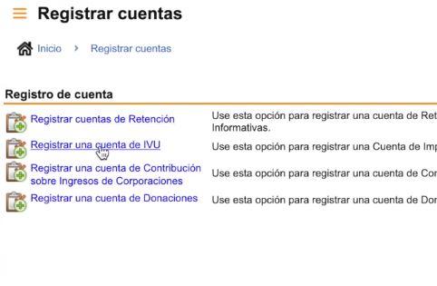 registrar una cuenta de ivu