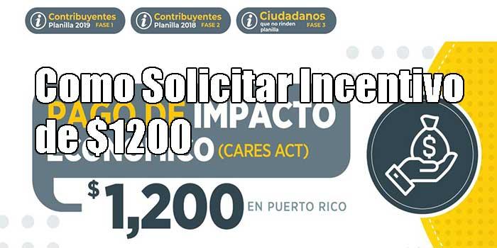 Solicitar el Incentivo de $1200 en Puerto Rico