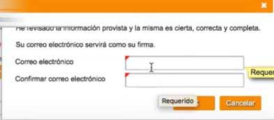 confirmar correo electronico para cuenta bancaria en suri hacienda