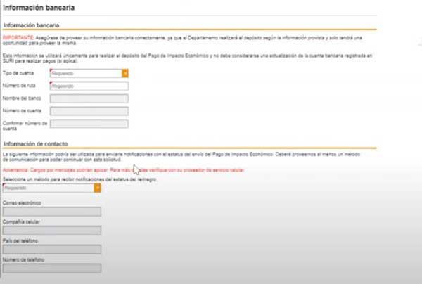 informacion bancaria para solicitar incentivo de 1200