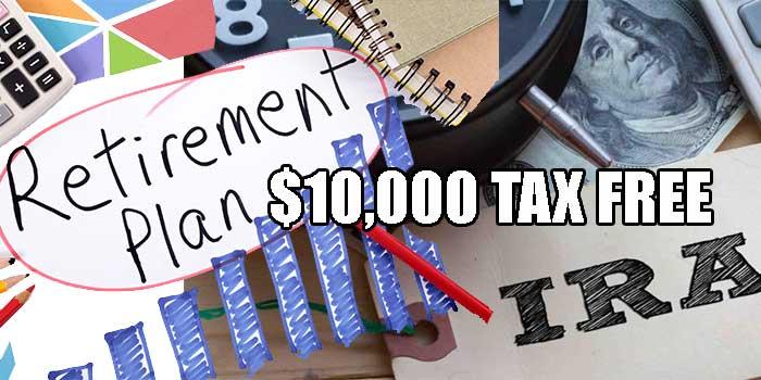 planes de retiro y cuentas ira $10000 libre de impuestos
