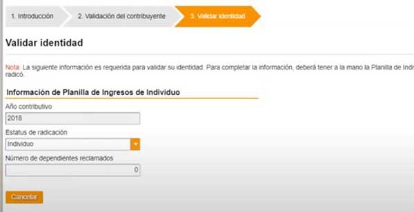 validar identidad para solicitar incentivo de 1200